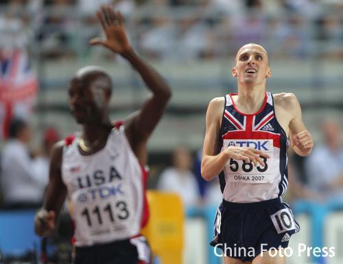 图文:男子1500米半决赛结束 赛后选手等待成绩