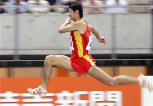 图文:世锦赛第三日十佳图片 仲敏维参加三级跳