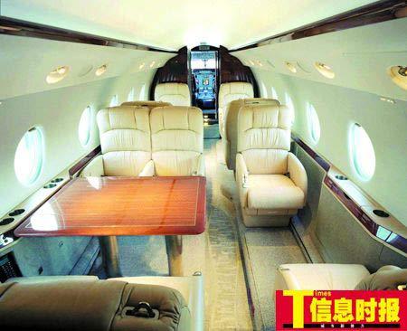广东首架公务机价值约为2400万美元,属于豪华型中程公务机。