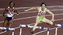 图文:400米栏半决赛黄潇潇晋级 选手们步履轻盈