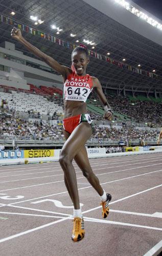 图文:世锦赛第四日十佳图片 肯尼亚获得冠军