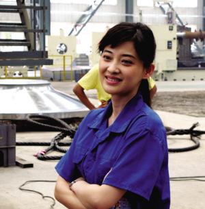 图为梅婷的工程师扮相。青红 供图