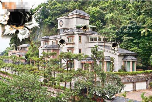 吴宗宪位于台北挹翠山庄的豪宅遭枪击扫射,最少留下四百多个弹孔。(设计图片)