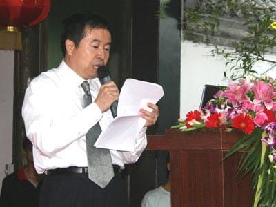 全国人大环资委法案室主任孙佑海先生宣读倡议书