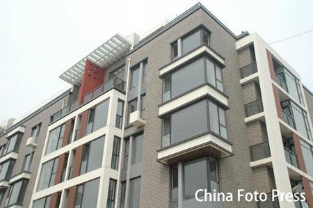 图文:奥运村运动员公寓楼样板间 国奥村大楼