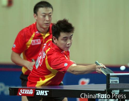图文:乒乓球大奖赛第四日图片 王皓攻守兼备