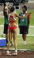 图文:瓦拉西奇摘金女子跳高 场上跳舞的冠军