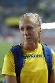 图文:瓦拉西奇摘金女子跳高 失望的瑞典选手