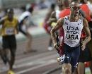 图文:男子4*400美国队轻松获胜 瓦里纳优势明显
