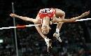 图文:女子跳高瓦拉西奇摘金 漂亮的跃起过竿
