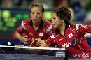 图文:乒乓球中国大奖赛 日本组合获女双亚军