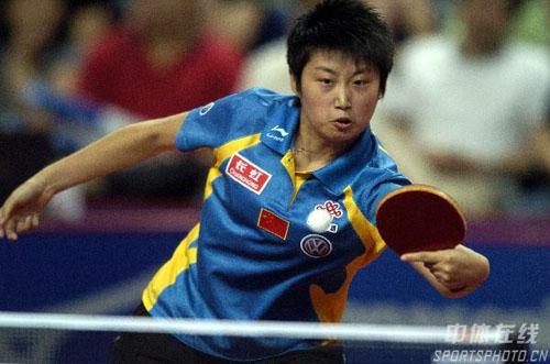 图文:乒乓球中国大奖赛 比赛中的女单亚军郭跃