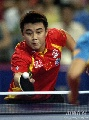 图文:乒乓球中国大奖赛 比赛中的男单冠军王皓