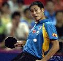 图文:乒乓球中国大奖赛 男单亚军王励勤比赛中