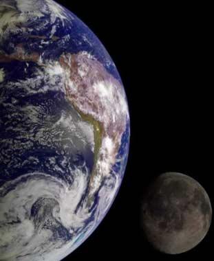地球和月球 资料图