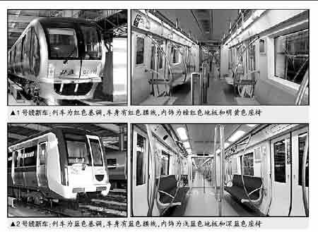 地铁1、2号线新车到京