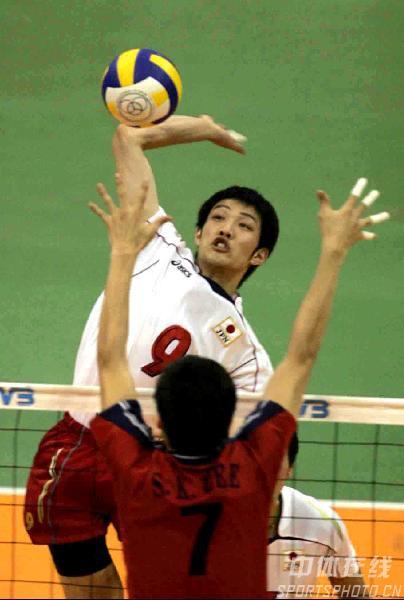 男排亚锦赛日本3-1战胜韩国 韩国队扣球显霸气