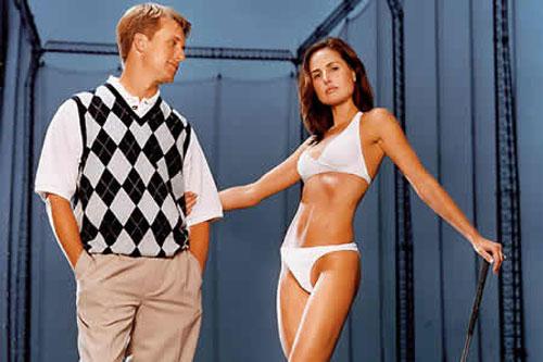 图文:高尔夫球员妻子性感迷人 大卫-汤姆斯太太