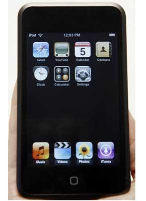 苹果新推出的iPod Touch媒体播放器9月5日在加州旧金山亮相。