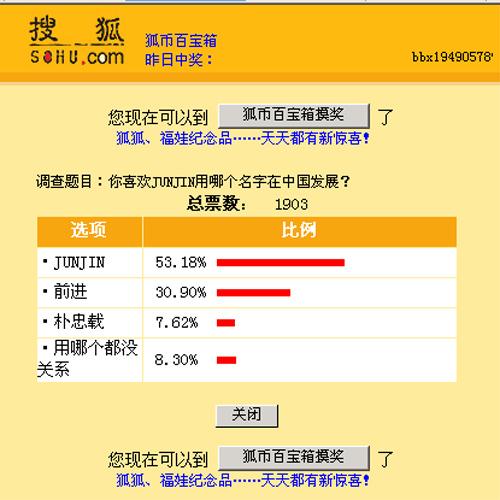 搜狐票选结果截图