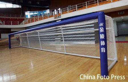 球门:北京理工大学体育馆竣工图文图片门球新款棒球帽盲人图片