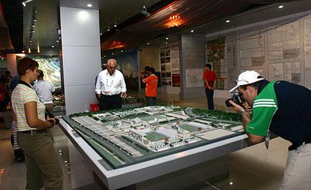 参观奥林匹克公园北区场馆模型