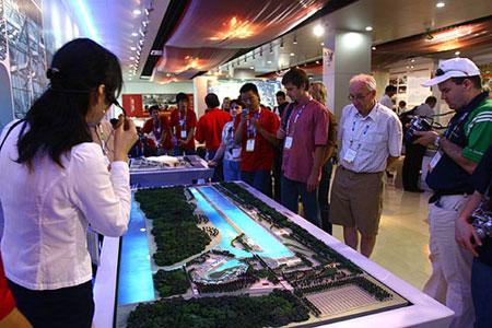 参观顺义水上中心模型