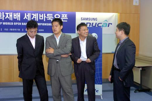 左起:古力、常昊、胡耀宇、黄奕中