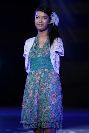 图文:残奥会倒计时一周年晚会 残疾演员雷庆瑶