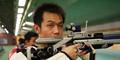 射击队试枪奥运赛场,2007射击亚锦赛,中国射击队,朱启南,杜丽,张山,王义夫