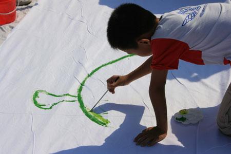 图文:福娃乐园北京开园 绘出我的奥运梦