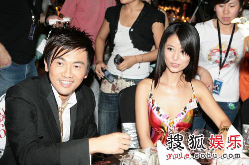 图:2007芭莎明星慈善夜 苏有朋林心如金童玉女