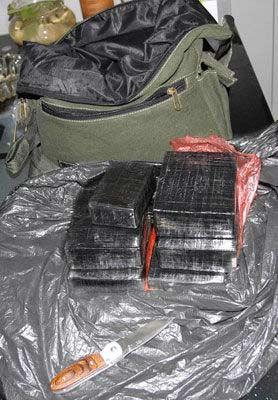 民警缴获的海洛因