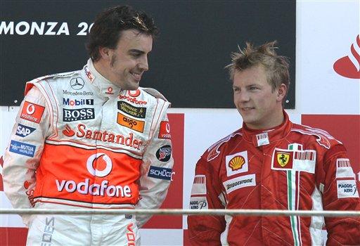 图文:[F1]意大利站正赛 是对手也是朋友