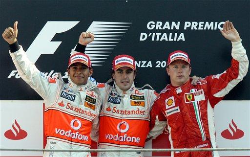 图文:[F1]意大利站正赛 此刻他们是幸福的