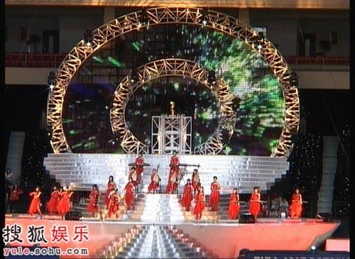 开幕式上的盛大演出彩排