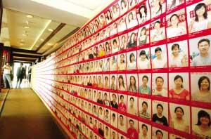 2008张笑脸的奥运欢乐汇迎奥运笑脸长卷拍出了3万元的高价