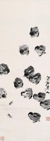 齐白石的不少名画都有蟋蟀的身影