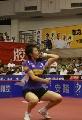 图文:乒超收官北京3-0山东 丁宁标志性发球