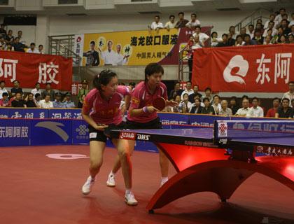 图文:乒超收官北京3-0山东 李晓霞和彭陆洋