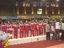 图文:亚锦赛中国女排获得亚军 中国队并不兴奋