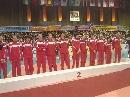 图文:亚锦赛中国女排获得亚军 中国队等待颁奖