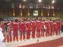 图文:亚锦赛中国女排获得亚军 女排站上颁奖台