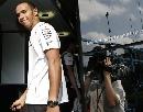 图文:[F1]比利时大奖赛赛前 汉密尔顿回到车房