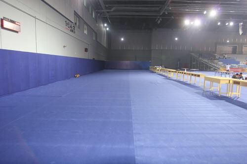图文:北京奥运击剑馆完工 10米气手枪场地