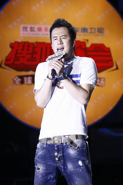 图:杨坤搜狐歌会 实力唱将卖力演出
