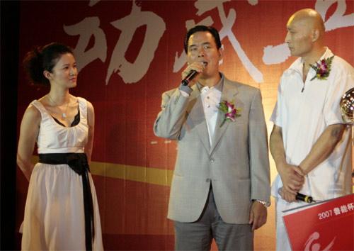 图文:2007乒超颁奖仪式 蔡振华现场讲话