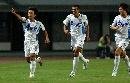 图文:[中超]长沙金德1-1天津泰达 白毅庆祝进球