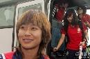 图文:[世界杯]女足抵达天津 韩端充满期待