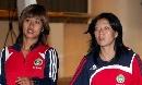 图文:[世界杯]女足抵达天津 韩端和张鸥影